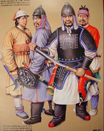 中国古代历朝军戎服饰图片