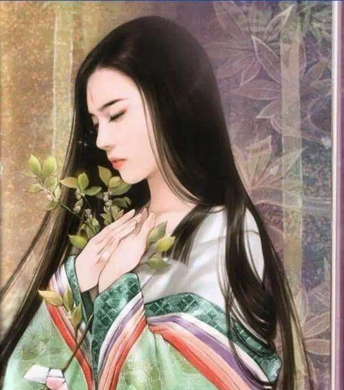古风舞剑美女手绘